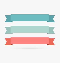 popular label ribbon pastel color banner origami vector image