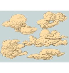 Retro style clouds vector image