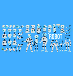robot animation set mechanism robot vector image