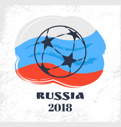 russia football signs and flag vector image