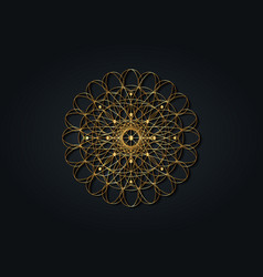 Sacred geometry esoteric gold flower life vector