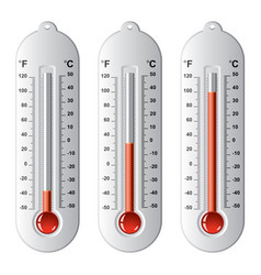 set of thermometers at different levels vector image