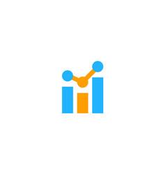 shape line graph business logo vector image