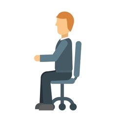 Sitting man vector