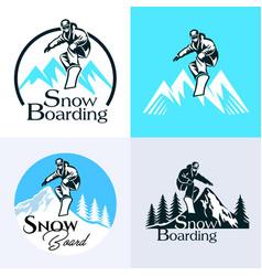 snowboarding winter sport vector image