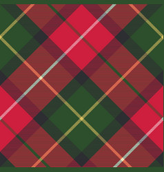 Tartan plaid diagonal seamless fabric texture vector
