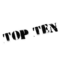 top ten rubber stamp vector image