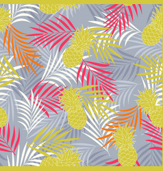 Tropical pattern with pineapple vector