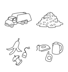 Waste and garbage symbol vector