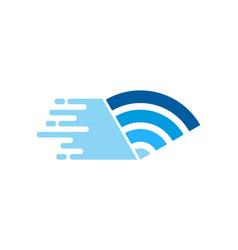 Wifi delivery logo icon design vector