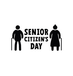 World senior citizens day older persons vector