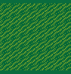 yellow green vine pattern seamless background vector image