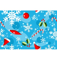 Christmas winter style elements background vector image