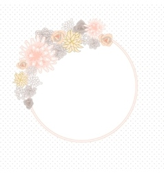 Flower round circle card template vector image vector image