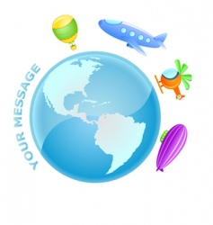 flying world vector image vector image