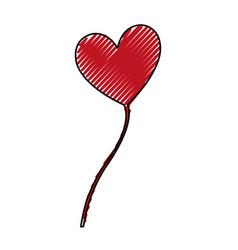 heart love balloon air vector image vector image