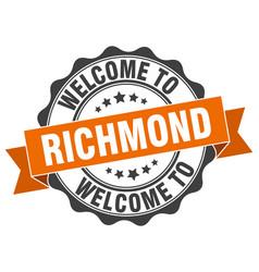 richmond round ribbon seal vector image