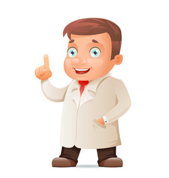 scientist young cute test-tube icon retro 3d vector image vector image