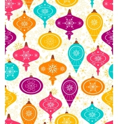Seamless pattern with christmas balls vector image