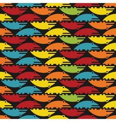 colorful crocodiles texure vector image vector image