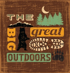 great outdoors1 vector image