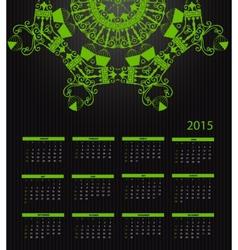 New Year Calendar 2015 vector image