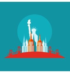 new york icon flat vector image