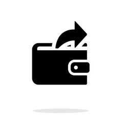 Outgoing payment from wallet icon on white vector image vector image