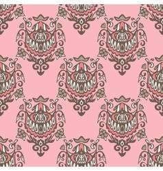 seamless damask vintage pattern design vector image vector image