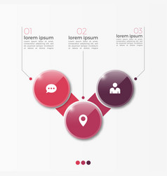 3 option infographic template with circles vector image vector image