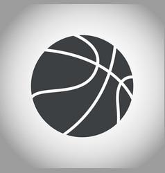 basketball ball black and white vector image