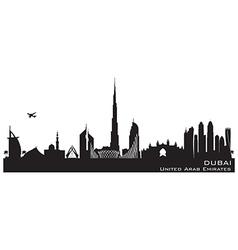 Dubai UAE skyline Detailed silhouette vector image vector image