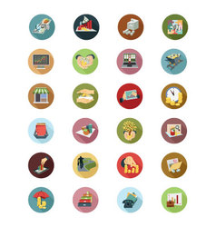 Financial Flat Icons 5 vector image vector image