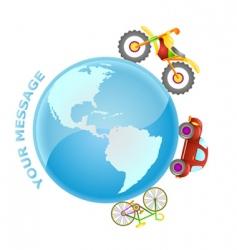 road world vector image