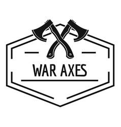 war axe logo simple black style vector image vector image