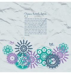 Abstract template floral background vector image vector image