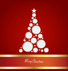 christmas card with tre vector image vector image