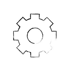 Figure gear industry technology information icon vector