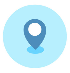 geolocation pin icon navigation position vector image
