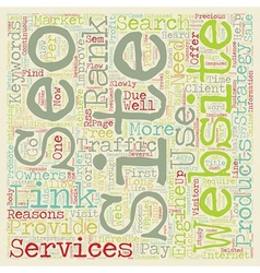 How SEO Services Can Provide Traffic For Your vector image vector image