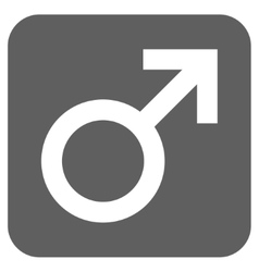 Male Symbol Flat Squared Icon vector image vector image