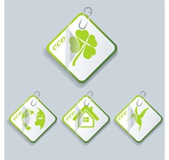 natural symbols and stickers vector image vector image