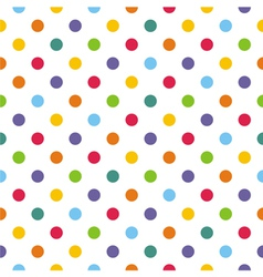 Seamless pattern texture with corolful polka dots vector image vector image