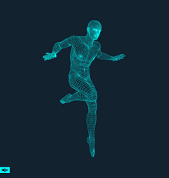 3d model of man human body wire model vector