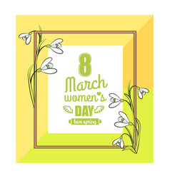 8 march womens day colorful vector image