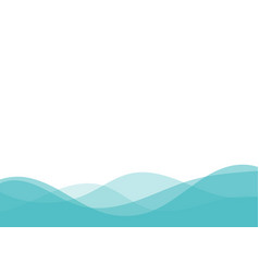 abstract blue wave on white background with space vector image