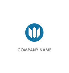 abstract m initial company logo vector image