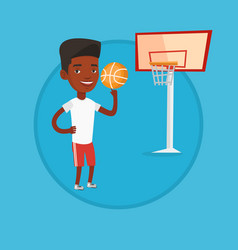 African basketball player spinning ball vector