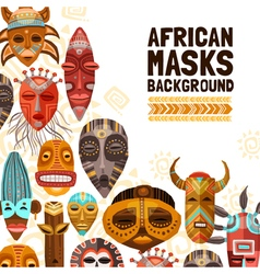 African Ethnic Tribal Masks vector image