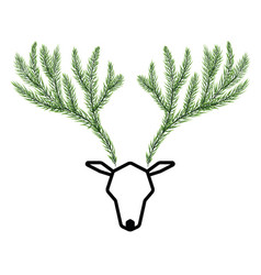 Antler is made from the branches of the pine vector